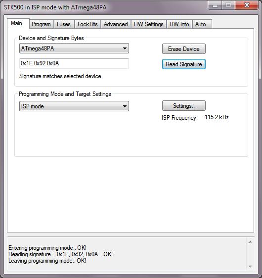 AVRISP mkII compat AVR programmer USB serial logic